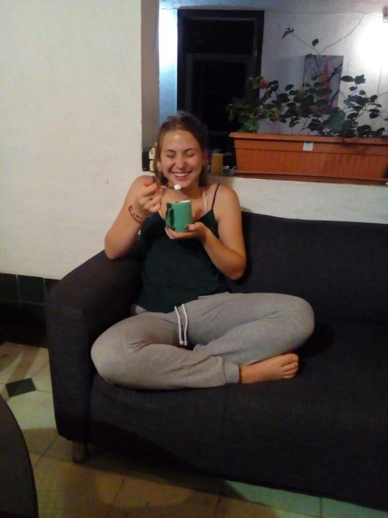 Freude über meinen ersten Guanábana- Milchshake